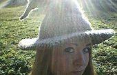 Mago/bruja sombrero de ganchillo