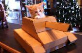Cómo construir un tanque con una caja de cartón