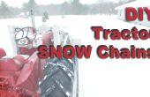 Cadenas de nieve DIY / modificado para requisitos particulares para los neumáticos del Tractor