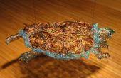 Escultura cocodrilo Ajuste tortuga de recuperado cables pelados equipo