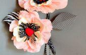 Flor de amapola de papel caprichoso