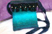 Tejido bolso de lana
