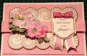 Cómo hacer una tarjeta Floral rosa tradicional