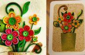Cómo hacer una tarjeta de felicitación de flores 3D | Quilling arte