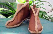 Botas de piel de cordero simple