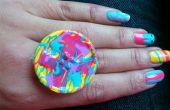 ¿Joyería de DIY: Uñas polaco Desparramaron anillo en el