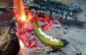 Fogata asado relleno plátano