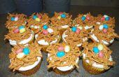 Cupcakes de nido de aves