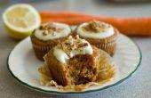 Cupcakes de zanahoria con Frosting de queso crema de limón