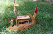 Arte artificial barco de madera