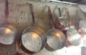 Mano de DIY limpiar estañado de cobre ollas/sartenes - instrucciones paso a paso