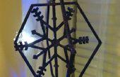 Copo de nieve ornamento de rotación