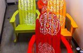 CNC vinil Spray pintado sillas