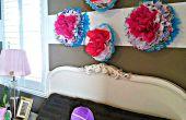 Arte de la pared de flores baratas en minutos.