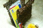 Periódico tejer 2 - parrilla, cesta rústica, sostenedor del lápiz