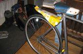 Guardabarros de bicicleta de cartón de leche