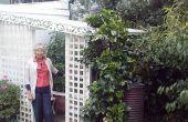 """Espaldera + """"Vivak"""" invernadero-refugio-playhouse-jardín habitación."""