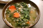 Sopa de col rizada y frijol blanco