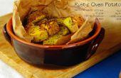 Chips de boniato y horno rústico asado patatas (GF)