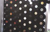 Cortina de discos de vinilo