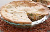 Turquía y pastel relleno
