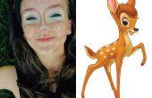 Maquillaje de Bambi (payaso contorno)