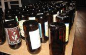 Botella de cerveza de tendedero