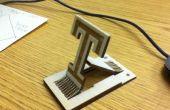 Universidad de Temple láser corte teléfono soporte