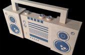 Cartulina BoomBox (quick ' n ' dirty concepto modelado 2D en 3D)