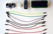 Arduino Nano: Ranger(Ping) ultrasonidos I2C de distancia pantalla LCD 2 X 16 Visuino