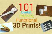 Impresiones 3d 101 útiles, prácticos, funcionales.