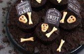 Espeluznante cementerio Chocolate Cookies N' Cream Cupcakes