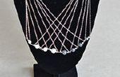 Cómo hacer un collar de cadena de plata larga varias vueltas con perlas para Dama de oficina