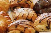 Croissants caseros frescos y dolores Au Chocolat