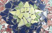 Reciclaje de cerámica en piedras mosaicos impresionantes