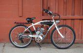Tanque de Gas medida en una bicicleta motorizada