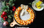 Corona de pan de mamá para la Navidad