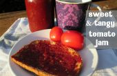 Mermelada de tomate picante y dulce