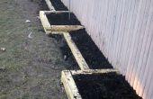 Cama de jardín con gradas