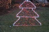 Árbol de Navidad del PVC iluminado decoración de la yarda