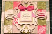 Cómo hacer un papel de tejido francés tarjeta Floral