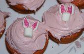 Cómo hacer Cupcakes de conejito de Pascua (malvaviscos)