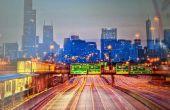 Luces y la pintura de una ciudad-scape