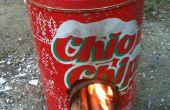 Cohete mini estufa de caja de chips
