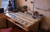 DIY escritorio construido con paleta