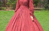 Década de 1860 la Guerra Civil Era vestido