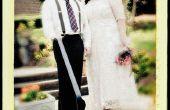 Cómo tener un retro buscando boda de estilo de la década de 1940 en un presupuesto!