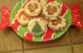 Sándwiches de galleta de Navidad