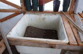 Encapsulamiento de banco - invernadero suelo lavabo rellenado idea de banco
