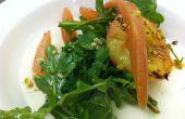 A la plancha ensalada de melocotón blanco